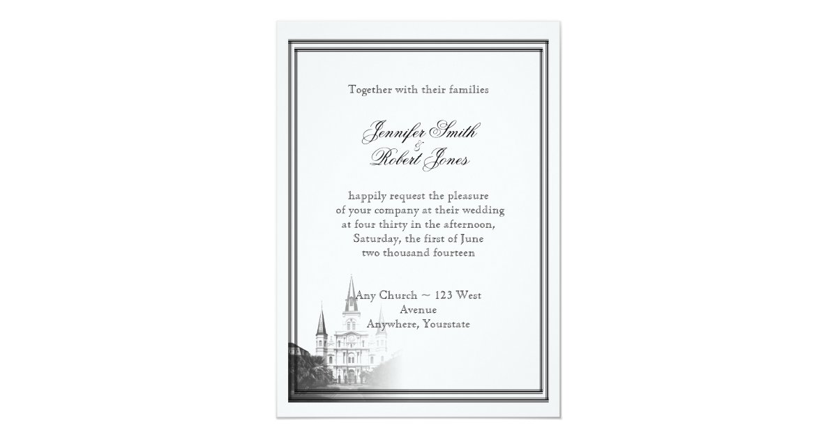 Wedding Invitations New Orleans: New Orleans Destination Wedding Invitation