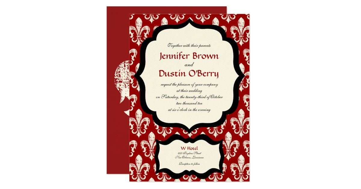 Wedding Invitations New Orleans: New Orleans Wedding Invitation