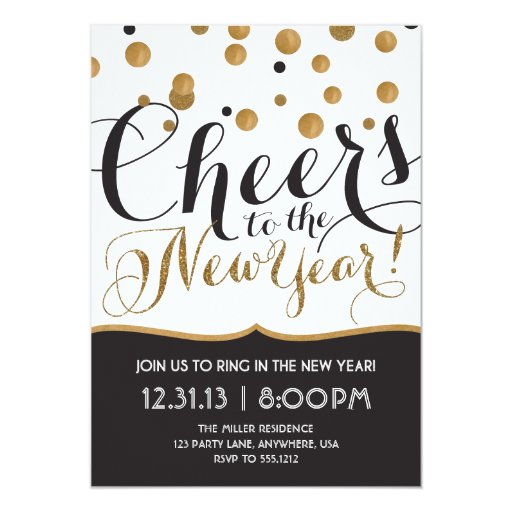 New Year's Eve Party Invitation | Zazzle  New Year's ...