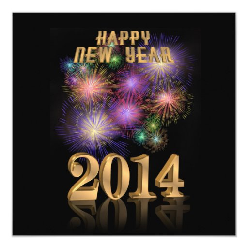 New Years Eve Party Invitation fireworks 2014 | Zazzle  New Years Eve P...
