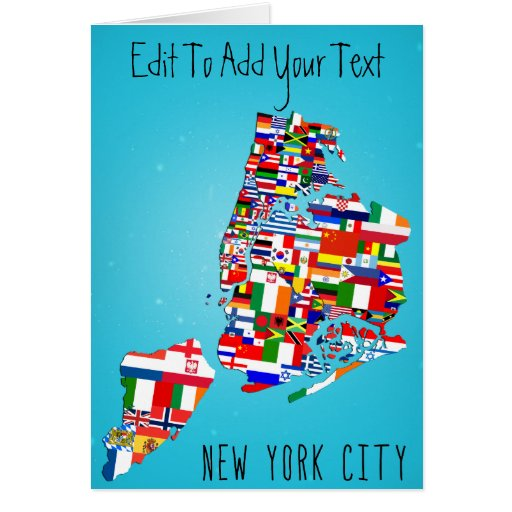 New York City Maps Greeting Birthday Wedding Card