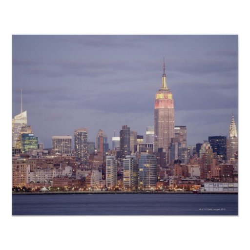 new york city skyline poster zazzle. Black Bedroom Furniture Sets. Home Design Ideas