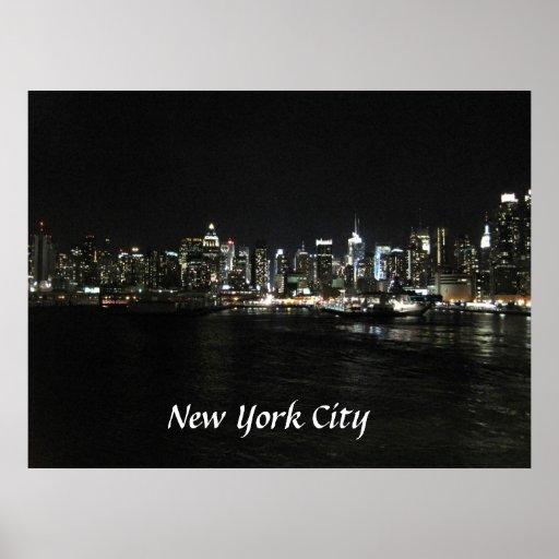 new york skyline poster driverlayer search engine. Black Bedroom Furniture Sets. Home Design Ideas
