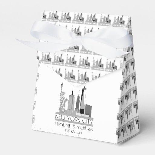 New York City Skyline Wedding Favor Box