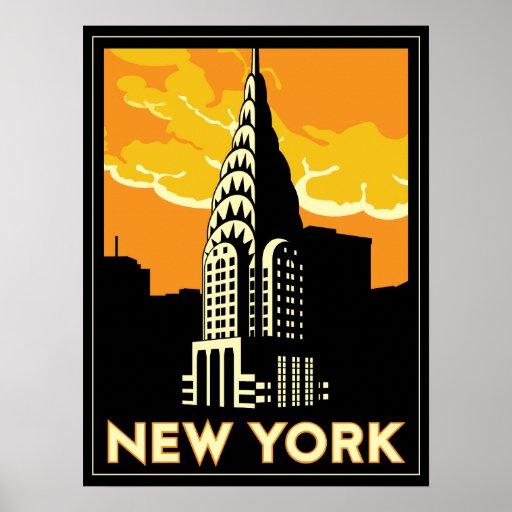new york united states usa vintage retro travel poster zazzle. Black Bedroom Furniture Sets. Home Design Ideas