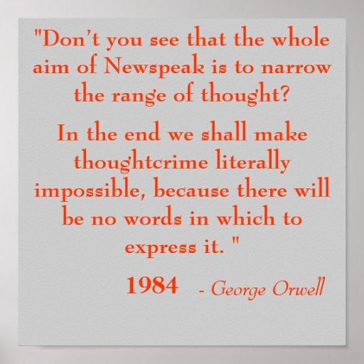 1984 George Orwell Quotes: Quotes About Newspeak 1984. QuotesGram