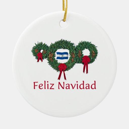 Nicaragua Christmas 2 Ceramic Ornament