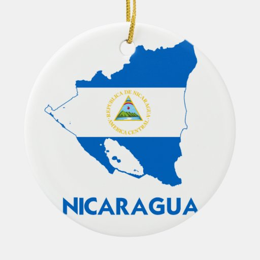 NICARAGUA MAP Double-Sided CERAMIC ROUND CHRISTMAS
