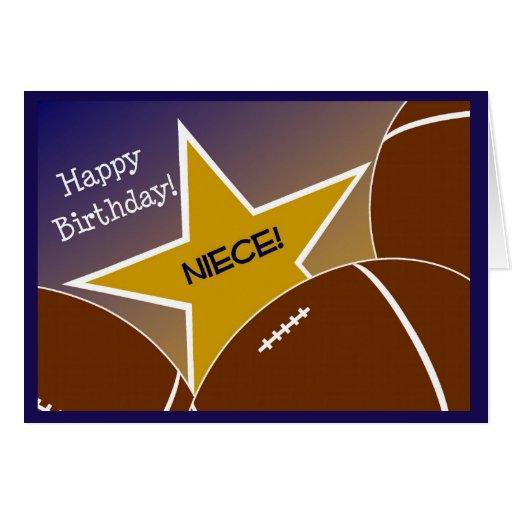 Niece - Happy Birthday Football Loving Niece! Card
