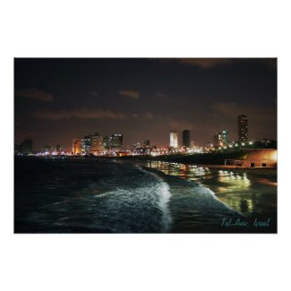 Night in Tel Aviv Posters