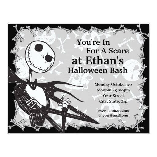 Nightmare Before Christmas Birthday Party: Nightmare Before Christmas Halloween Party 4.25x5.5 Paper