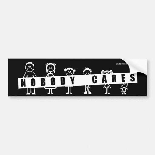 NOBODY CARES about your stick figure family! Car Bumper ...