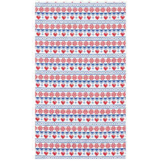 Nordic Christmas in Red & Blue Tablecloth