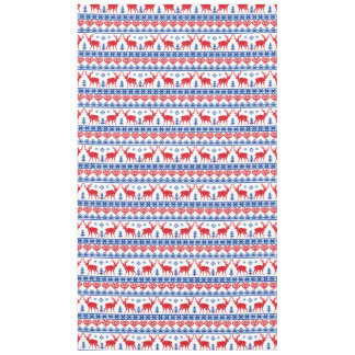 Nordic Christmas Reindeer Pattern Tablecloth
