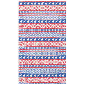 Nordic Reindeer and Snowflakes Tablecloth