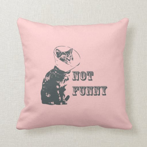 Not Funny Pillow | Zazzle