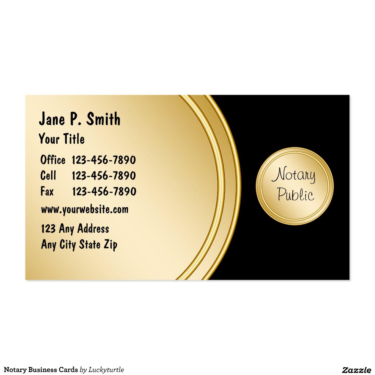Notary Business Cards R94fc7c0c98bc4acb9e8f63c443892c4e