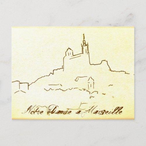 Notre Dame à Marseille postcard