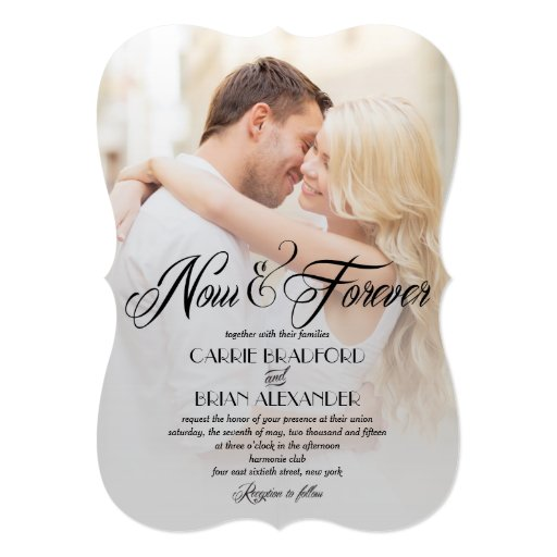 Picture Wedding Invitations: Now And Forever Photo Wedding Invitations