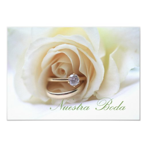 Spanish Wedding Invitations: Nuestra Boda - Spanish Wedding Invitation