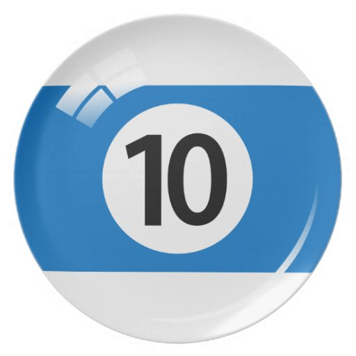 Number 10 Billiard Or Pool Ball Novelty Plate Zazzle