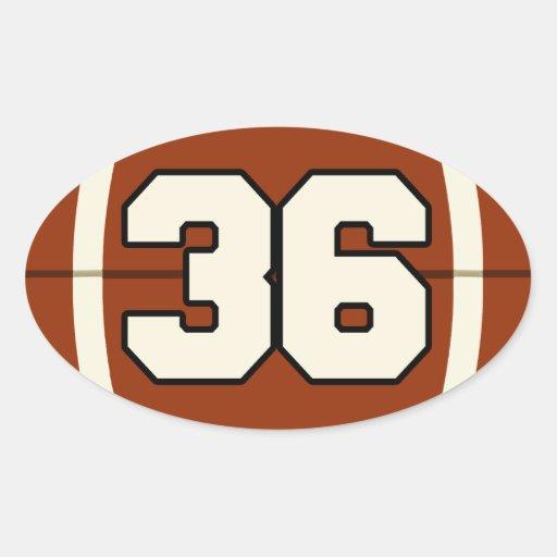 Number 36 Football Sticker