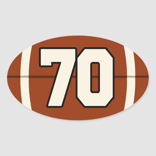 number football 73 70 sticker 78 stickers gifts zazzle