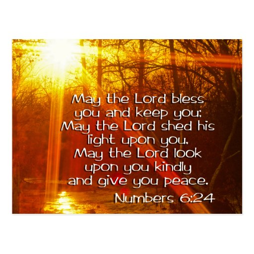 MAY THE LORD BLESS YOU POSTCARD