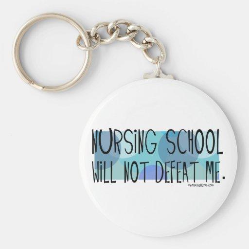 Nursing School Will Not Defeat Me Basic Round Button