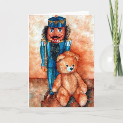 Nußknacker und Bärchen card
