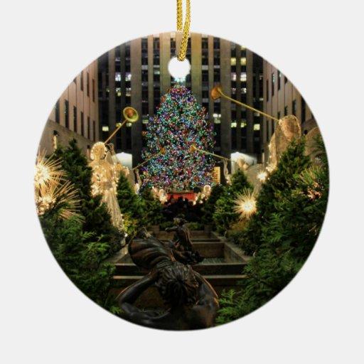 NYC Rockefeller Center Christmas Tree, Angels Ceramic