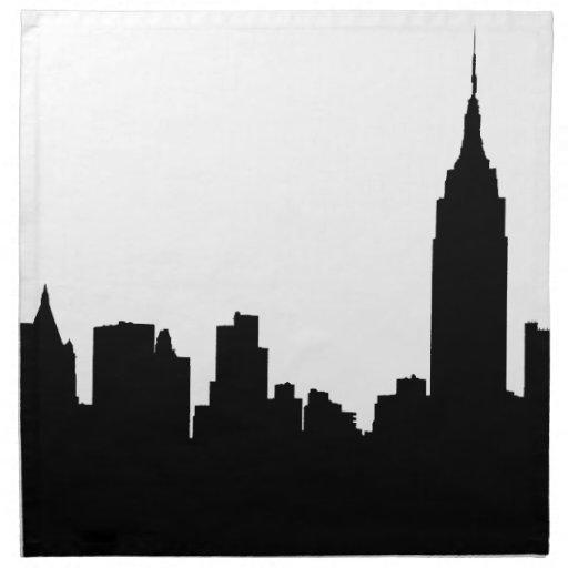 NYC Skyline Silhouette, Empire State Bldg #1 Napkin | Zazzle