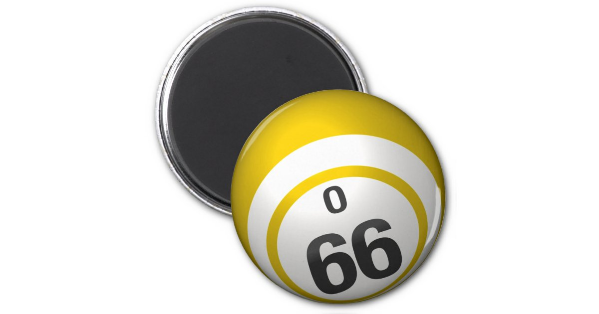 O 66 Bingo Ball Magnet Zazzle