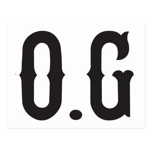 O.G original gangster Postcard | Zazzle