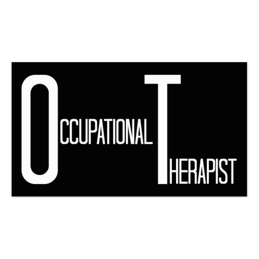 Occupational The Word Business Card