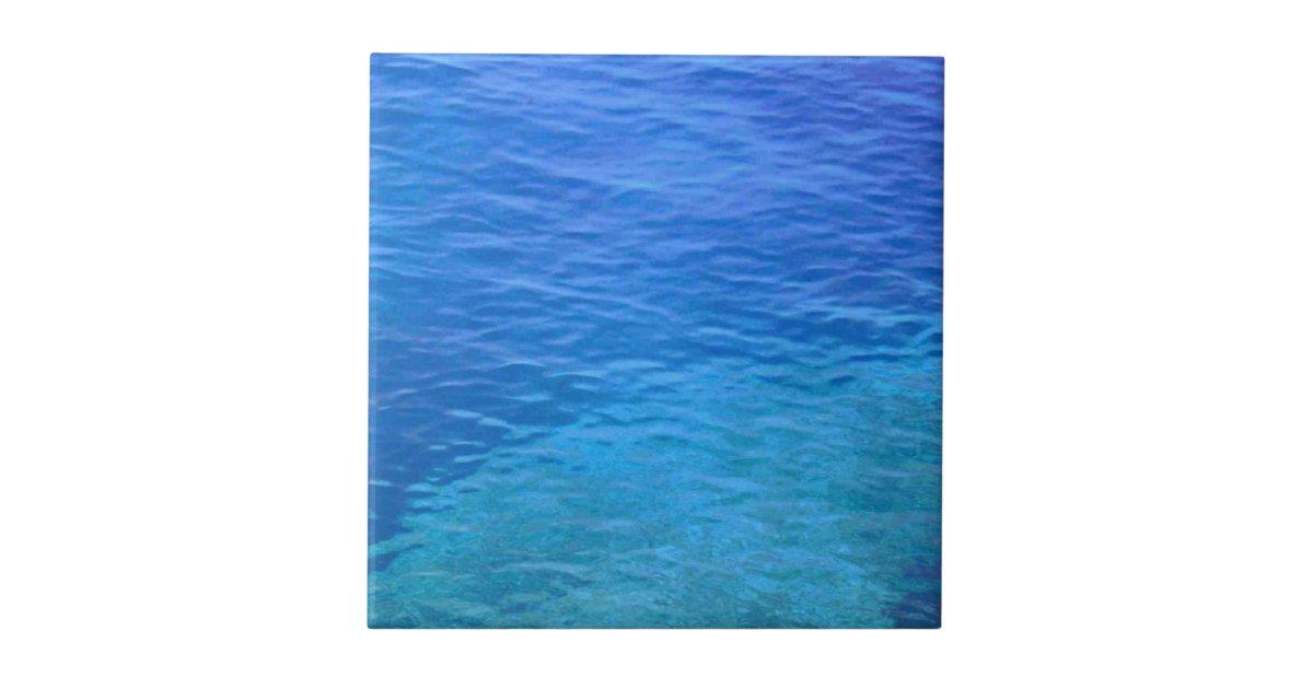 Ocean Blue More Water Waves Ceramic Tile Zazzle
