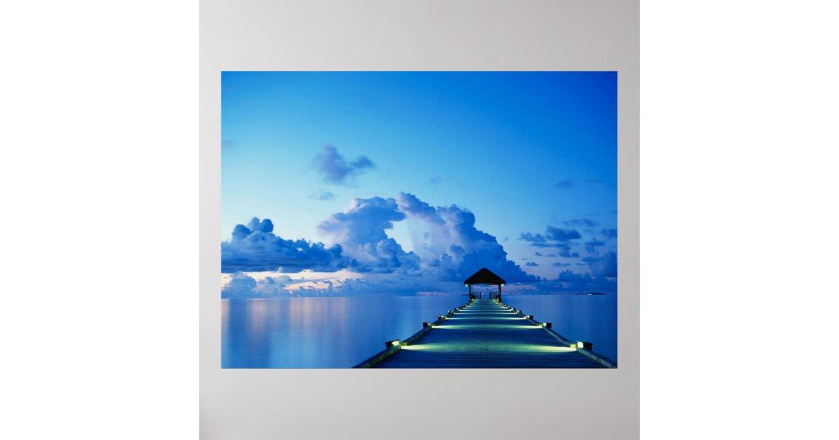 Ocean Peer Dock Poster | Zazzle