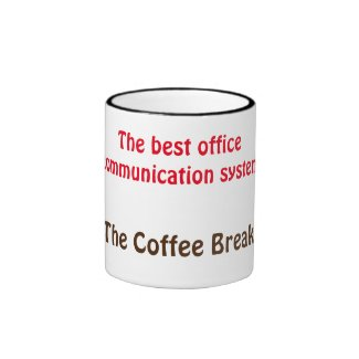 Office and Coffee Breaks Ringer Coffee Mug
