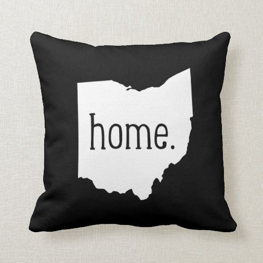 Ohio Home State Throw Pillow Zazzle