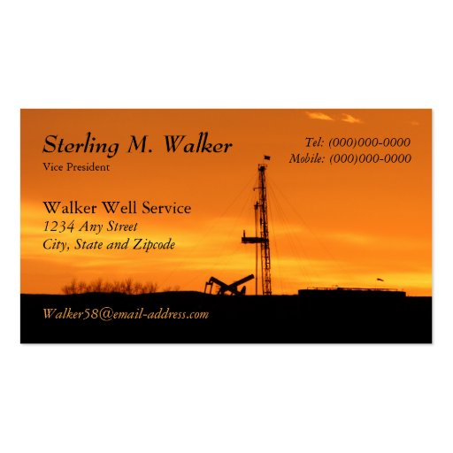 oil field service business plans