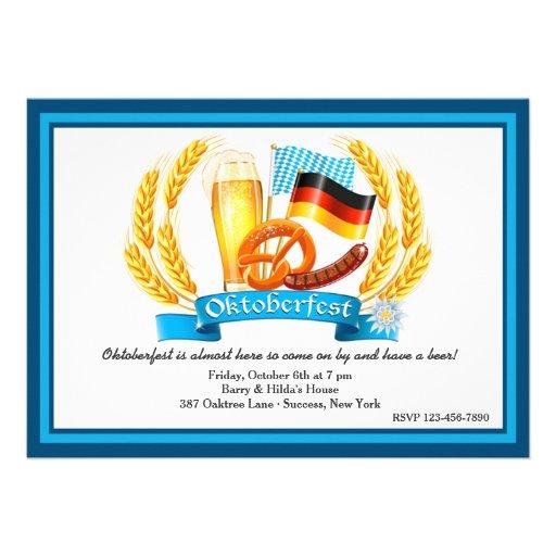 Personalized Oktoberfest Invitations