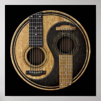 acoustic guitar art framed artwork zazzle. Black Bedroom Furniture Sets. Home Design Ideas