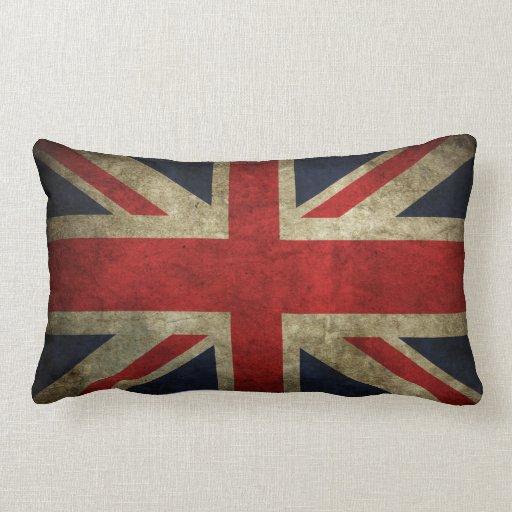 Old Antique Uk British Union Jack Flag Pillow Zazzle
