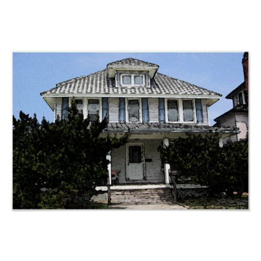 Old Greenwich Beach Cottage: Old Beach House Poster