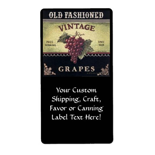 Old Fashion Vintage Grapes, Purple And Black Wine Shipping