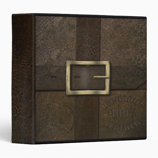 """Old Leather Effect 1.5"""" Binder"""