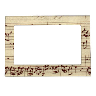 Musical Notes Magnetic Picture Frames | Zazzle