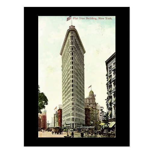 Flat Nyc: Old Postcard, New York City, Flat Iron Building Postcards