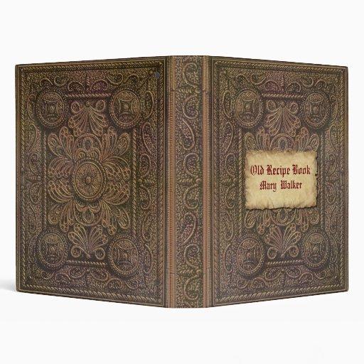 Old Recipe Book Binder