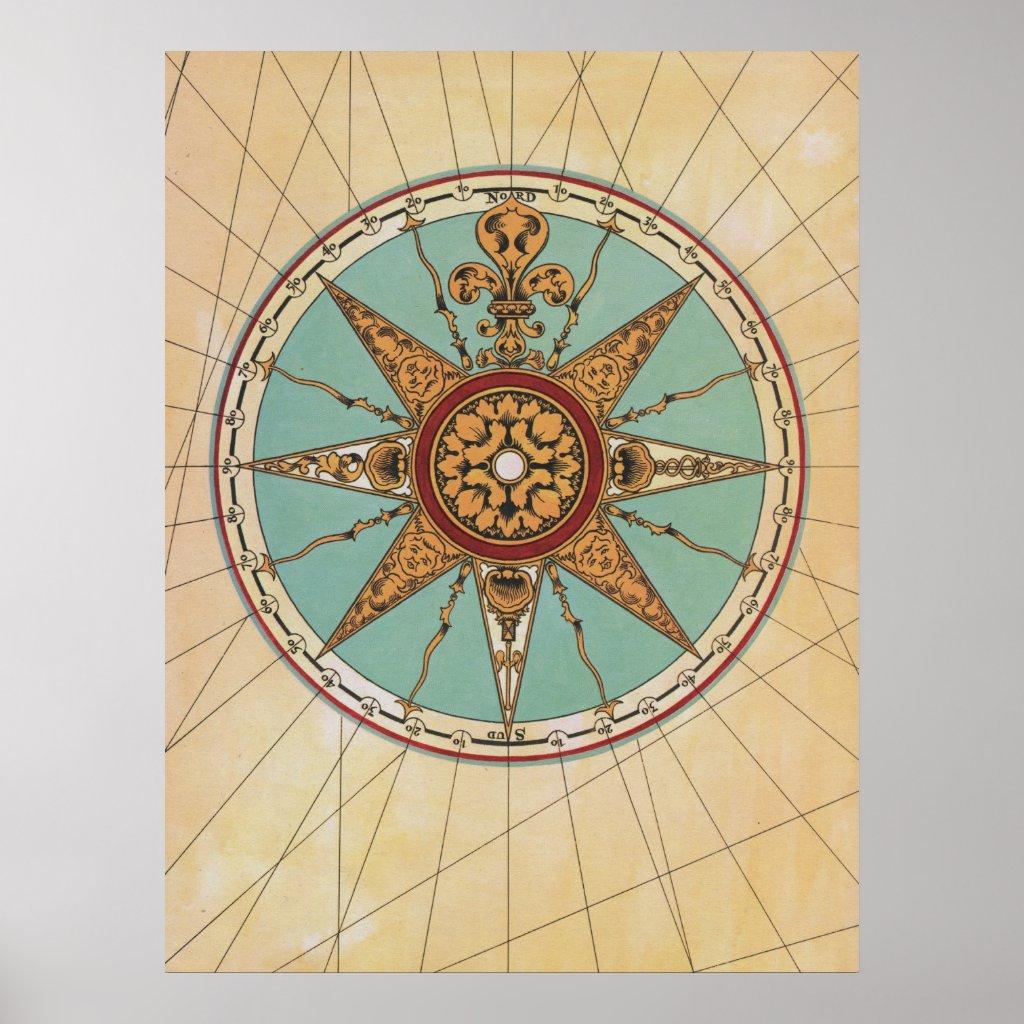 Antique Compass Rose M...